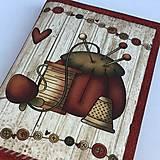 Papiernictvo - Jehelníček - obal na knihu - 8329305_