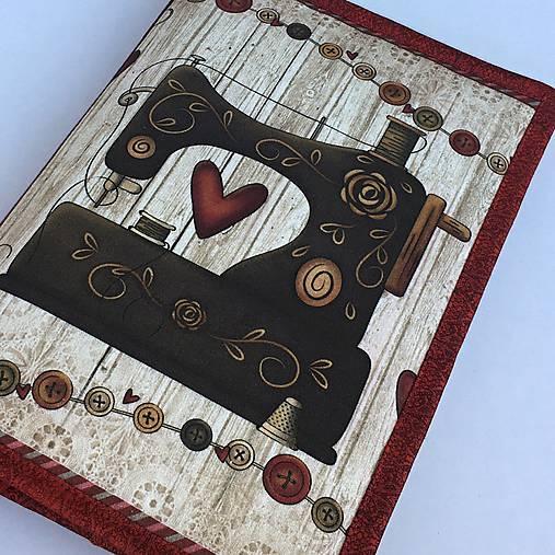 Šicí stroj - obal na knihu