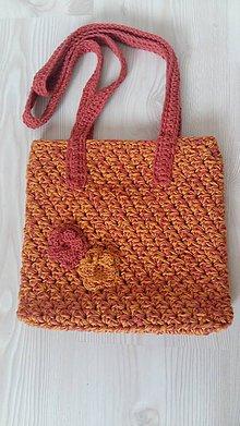 Iné tašky - Háčkovaná taška oranžovo-tehlová - 8328708_