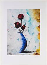 Grafika - Print A3 na papieri A2 z originál obrazu Ruže - 8327746_