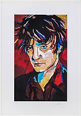 Grafika - Print A3 na papieri A2 (v ráme) z originál obrazu Abstraktný portrét XI. - 8327748_