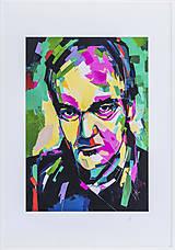 Grafika - Print A3 na papieri A2 z originál obrazu Abstraktný portrét XIV. - 8327750_