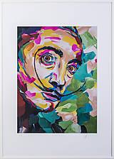Grafika - Print A3 na papieri A2 (v ráme) z originál obrazu  Abstraktný portrét VII. - 8327768_