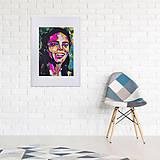 Grafika - Print A3 na papieri A2 (v ráme) z originál obrazu Abstraktný portrét XIII. - 8327791_