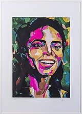 Grafika - Print A3 na papieri A2 (v ráme) z originál obrazu Abstraktný portrét XIII. - 8327792_