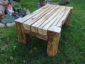 Nábytok - Konferečný stôl so starých dubových hranolov - 8329468_