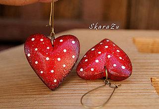 Náušnice - Heart dots / 3D - 8328095_