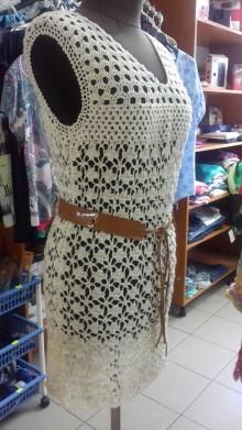 Šaty - Háčkované minišaty - 8328651_