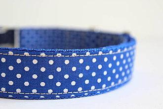 Pre zvieratá - Obojok Viktor - v kráľovskej modrej s bodkami - 8332169_