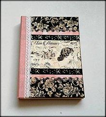 Papiernictvo - Ručne šitý diár/zápisník ,,Woman\