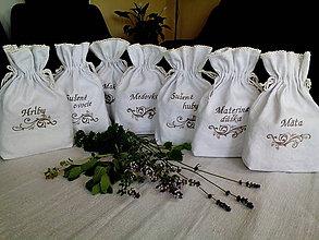 Úžitkový textil - Ľanové vrecúška z ručne tkaného plátna - 8330982_