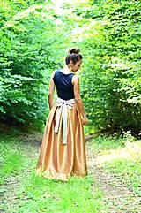 - MAXI saténová sukňa s mašľou - 8331724_
