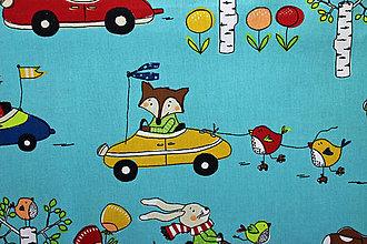 Textil - Závody na autách, 100% bavlna - 8330714_