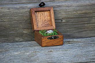 Prstene - Krabička na snubný prsten - 8331734_