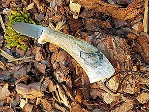 Nože - Nôž zdobený scrimshaw - 8329946_