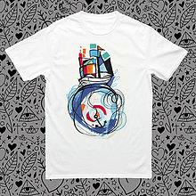 Tričká - Lodička jeho/pánske tričko - 8331545_