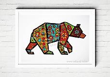 - Medveď ♥ maľovaný obrázok - 8332242_
