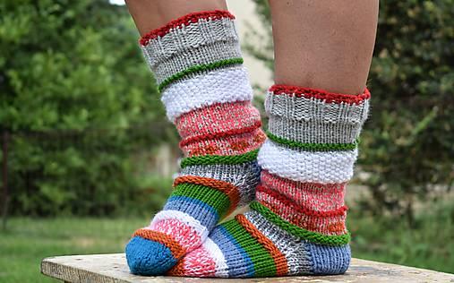 df79e753c Farebné ponožky (v.38-40) / Eva64 - SAShE.sk - Handmade Obuv
