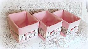 """Košíky - Košík - """"Odkladáčik ružový"""" 27x22x19 - 8330485_"""