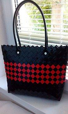 Veľké tašky - Domino čierno červena kabelka..:) - 8330368_