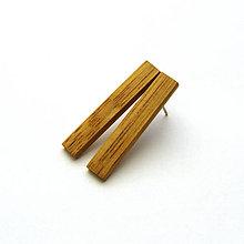 Náušnice - Dubové prúžky - 8331711_