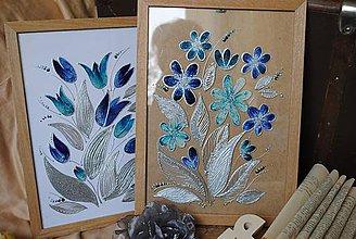Obrázky - malovane obrazky na sklo: par 30cm x 40cm - 8333363_