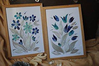 Obrázky - malovane obrazky na sklo : par - 8333425_