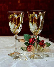 Nádoby - Svadobné poháre - 8335247_