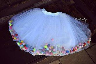 Detské oblečenie - suknička pom pom - 8334890_