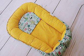 Textil - Hniezdo pre bábätko žlto-mentolové s pandami - 8334496_