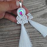 Náušnice - Teardrop with tassels 2...soutache - 8333551_