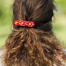 Ozdoby do vlasov - Kvety na lúke - spona do vlasov - 8333594_