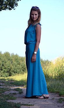Šaty - Dlouhé šaty petrolejové - vyberte si svou barvu!! - 8335238  398685089f0