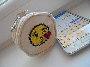 Peňaženky - Peňaženka - smiley so srdiečkom - 8333004_