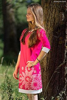 Šaty - Dámske šaty mini, šité, maľované, etno KARUMARIAMMAN - 8333712_