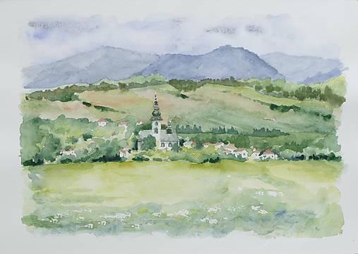 Bobrovec - akvarel