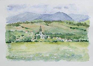 Obrazy - Bobrovec - akvarel - 8335071_