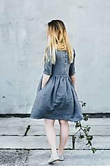 - Dámske ľanové šaty 3/4 rukáv - 8335585_