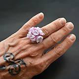 Prstene - Recy prsteň kytička kvetov - 8334926_