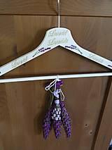 Dekorační ramínko se 3 levandulovými paličkami - snítky levandule