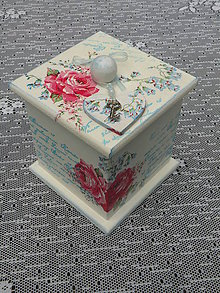 Krabičky - originální dárková,svatební krabička se srdíčkem - 8334337_