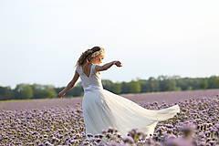 Šaty - Svadobné šaty s elastickým živôtikom a kruhovou tylovou sukňou - 8332480_