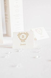 Papiernictvo - Svadobné menovky na želanie - 8333630_