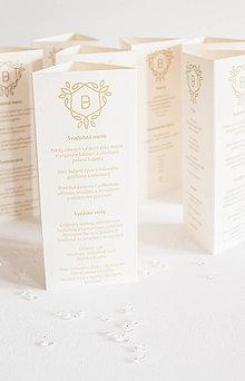 Papiernictvo - Svadobné menu - 8333657_