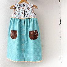 Detské oblečenie - Detské šaty Zvieratká z lesa - 104 - 8335116_