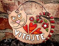 Tabuľky - Keramická tabuľka Vitajte I. - 8333351_