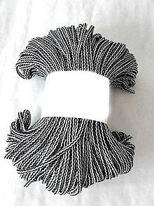 Galantéria - Šnúra bavlnená 5mm - ČIERNO-BIELA 100m - 8336895_