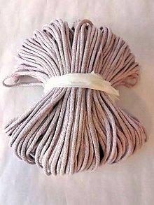 Galantéria - Šnúra bavlnená 5mm - STARORUŽOVÁ svetlý melír 100m - 8336957_