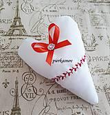 svadobné srdiečka biela - červená