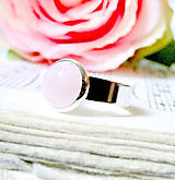 Prstene - Elegant Rose Quartz Ring / Prsteň s ruženínom /0558 - 8336118_